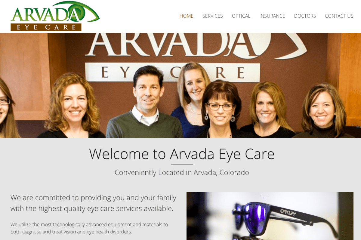 arvada eye care website