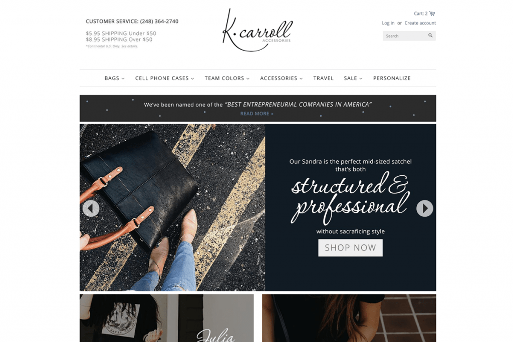 k-carroll shopify store creation