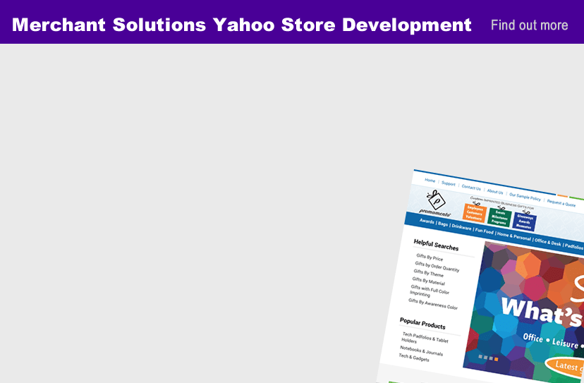 Yahoo merchant solutions