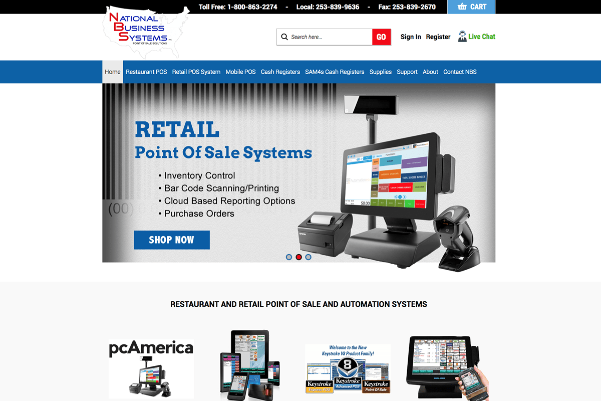 POS Systems web design