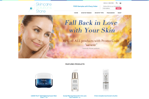 Yahoo store website design Skincare