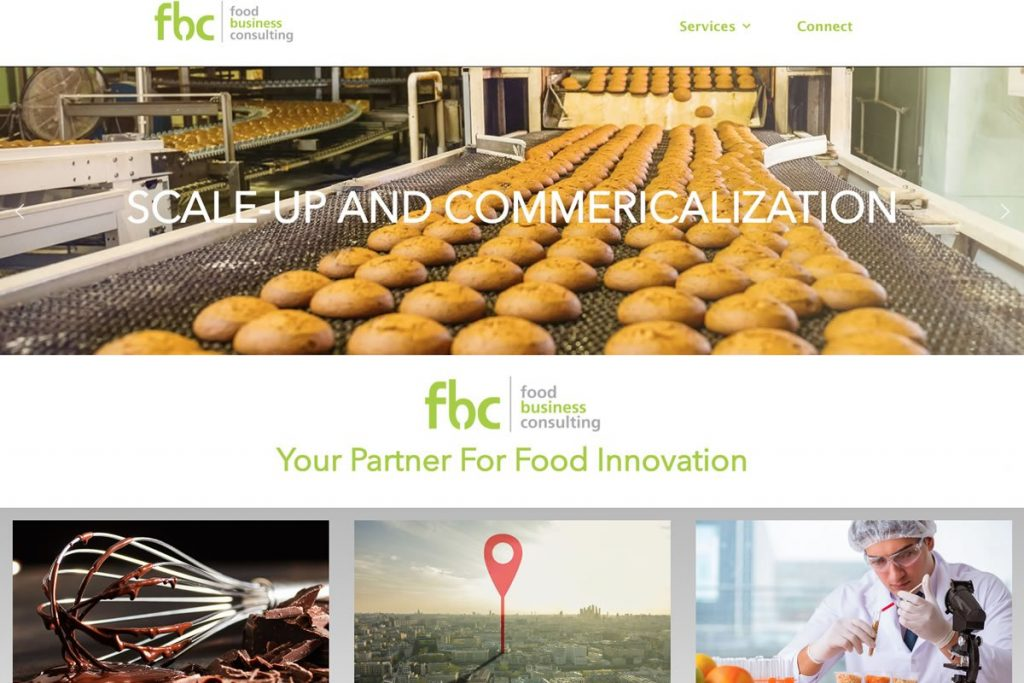 Food Consulting Business Web Design