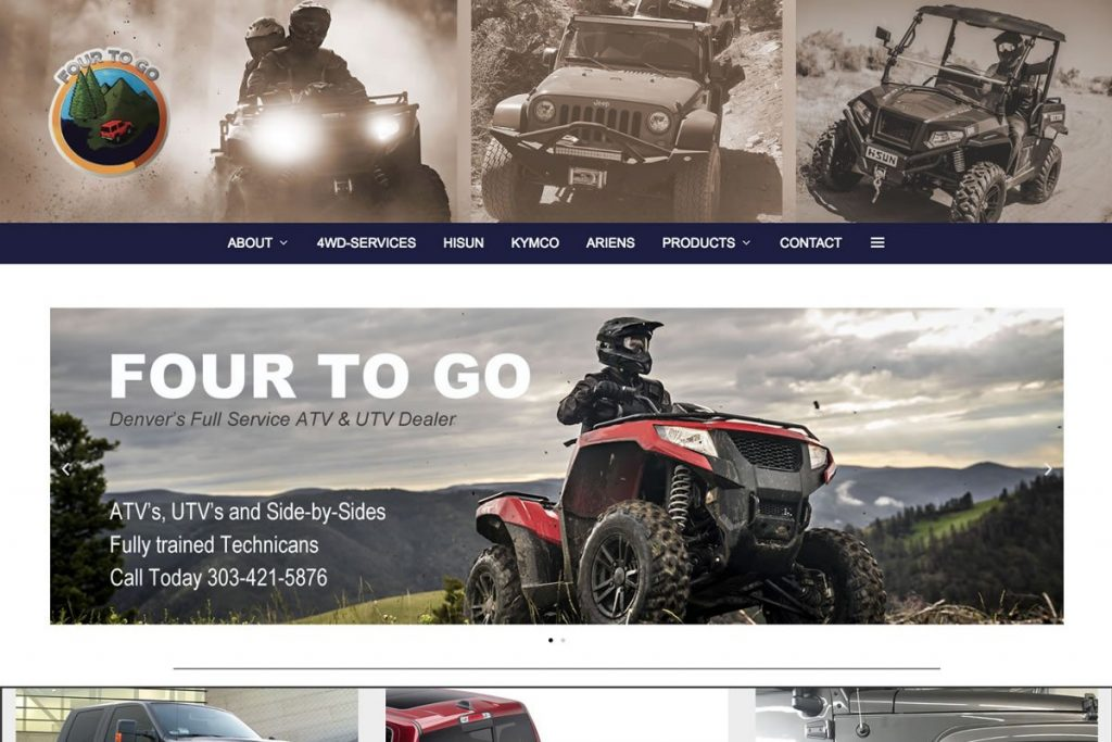 Website for a 4×4 accessory company